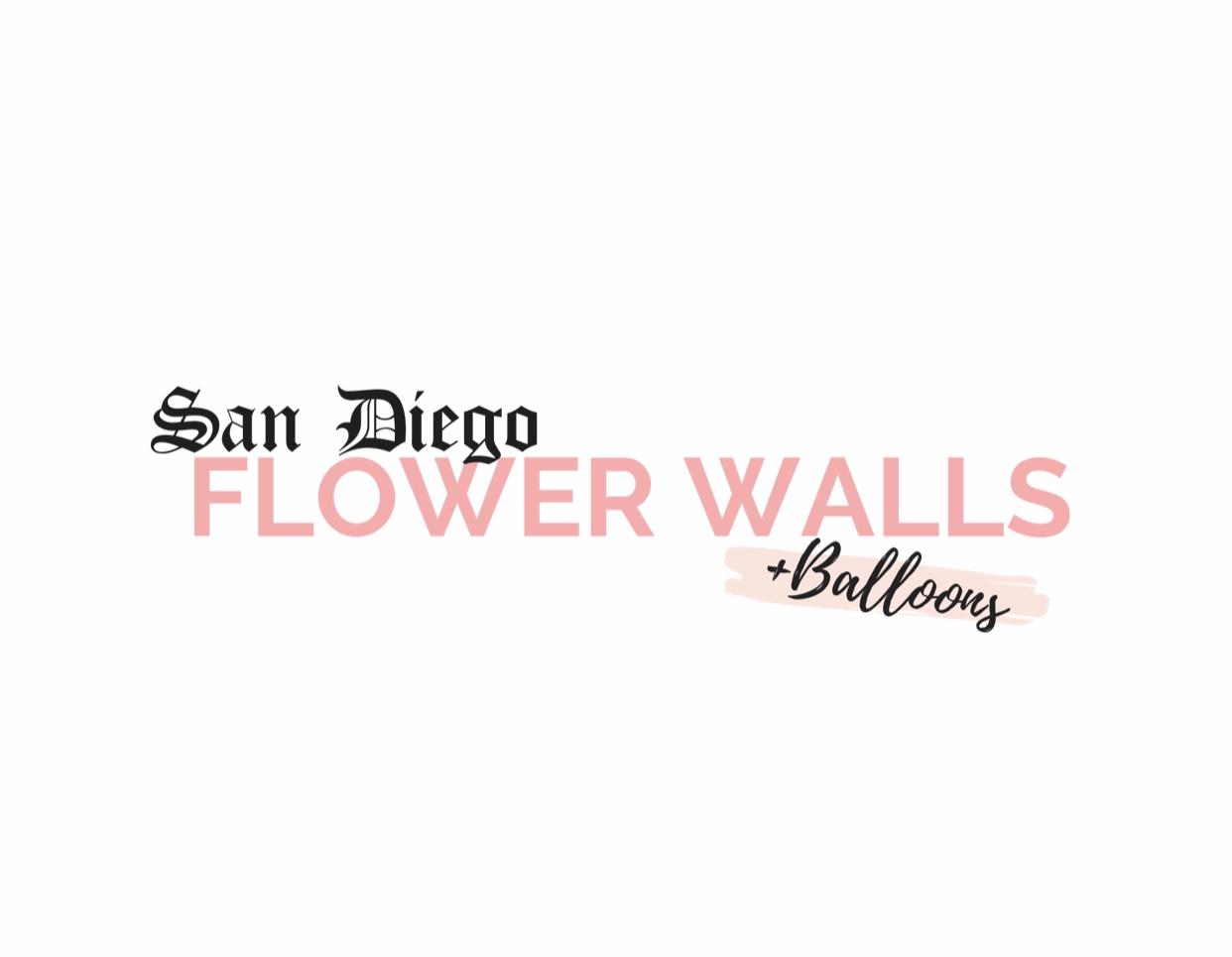 San Diego Flower Walls + Balloon Garlands Bouquet Logo